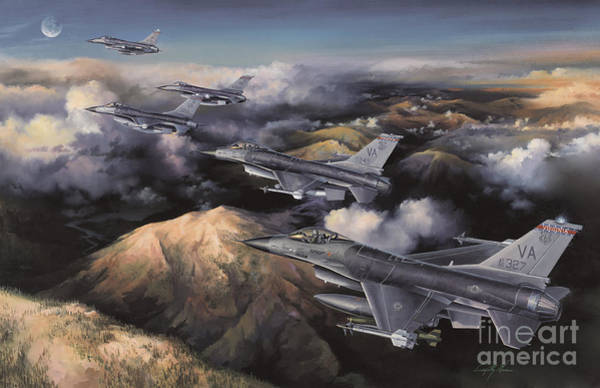 Helicopter Painting - The Boys From Richmond by Randy Green
