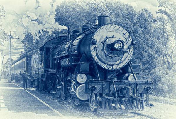 Railway Station Photograph - The Brakeman - Vintage by Robert Frederick