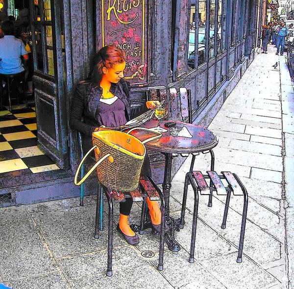 Outdoor Cafe Photograph - The Brasserie In Paris by Jan Matson