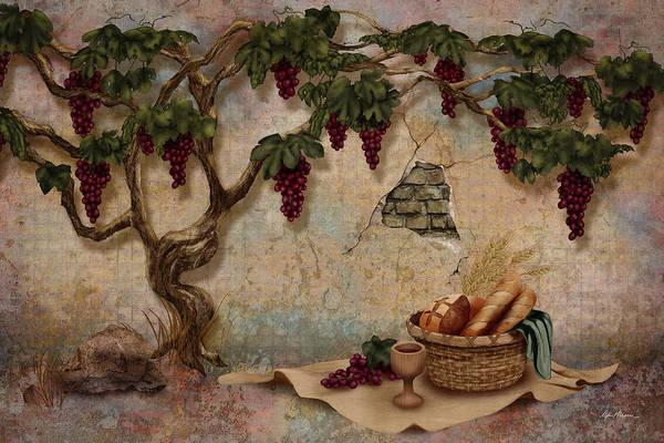 Digital Art - The Bread And The Vine by April Moen