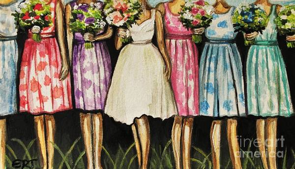 Painting - The Bride And Her Bridesmaids by Elizabeth Robinette Tyndall