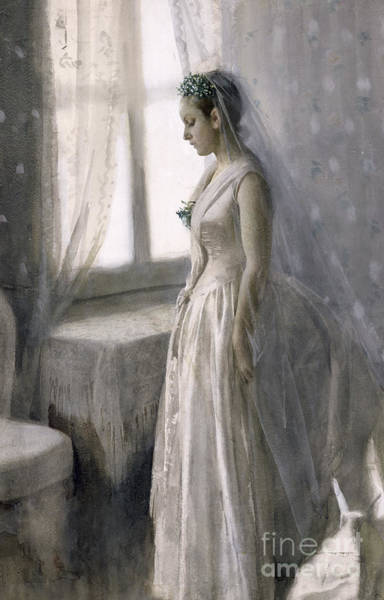Lady In Waiting Painting - The Bride by Anders Leonard Zorn