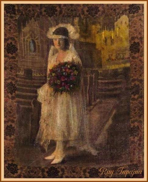 Mixed Media - The Bride by Ray Tapajna