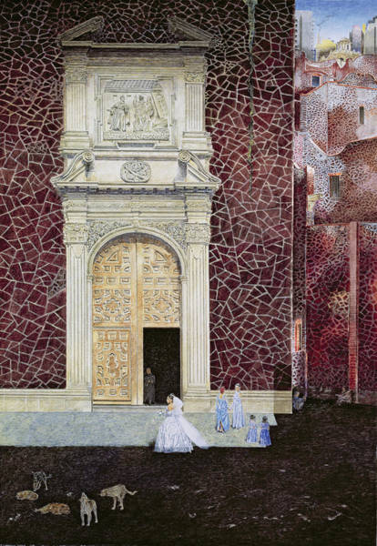 Mexico City Photograph - The Bridegroom Never Came, 2001 Oil On Canvas by James Reeve
