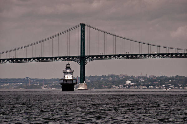 Photograph - The Bridge And The Lighthouse by Nancy De Flon