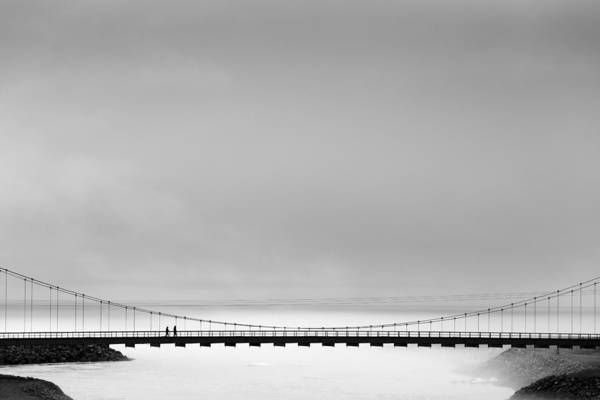 Fog Photograph - The Bridge by Markus K?hne