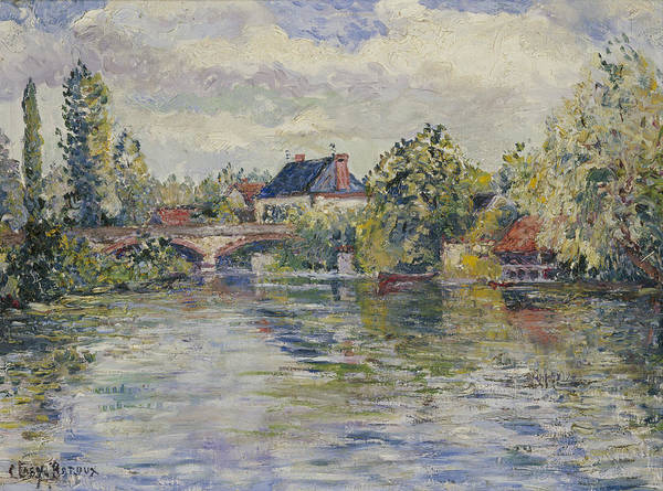 Wall Art - Painting - The Bridge Of Garennes by Adolphe Clary Baroux