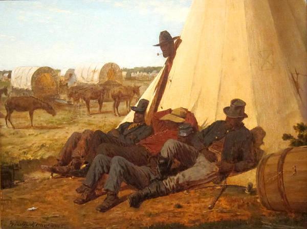 Wagon Digital Art - The Bright Side by Winslow Homer