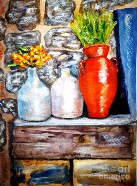 Shelves Mixed Media - The Brighter Side by Micki Davis