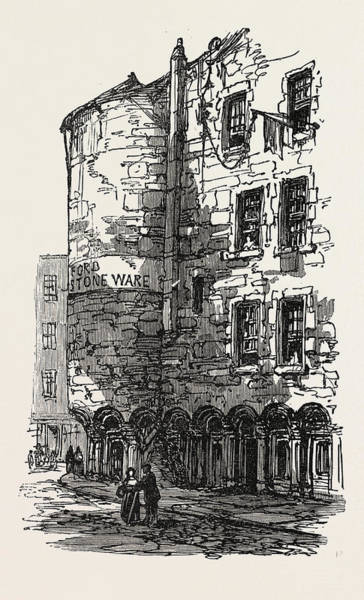 Old Style Drawing - The British Association At Dundee Old Houses by English School