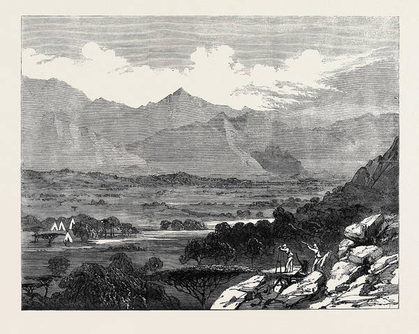 Wall Art - Drawing - The British Expedition To Abyssinia Surveying Camp At Weah by English School