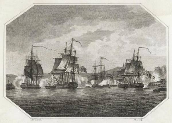 Wall Art - Drawing - The British Navy Taking The Caribbean by Mary Evans Picture Library