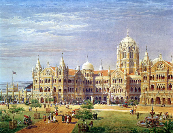 Wall Art - Photograph - The British Raj Great Indian Peninsular Terminus Wc On Paper by Axel Haig