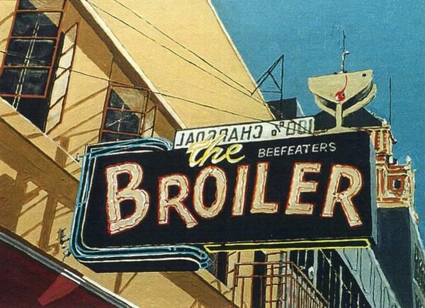 The Broiler On J Street Art Print by Paul Guyer