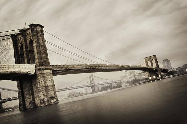 Brooklyn Bridge Photograph - The Brooklyn Bridge by Eli Katz