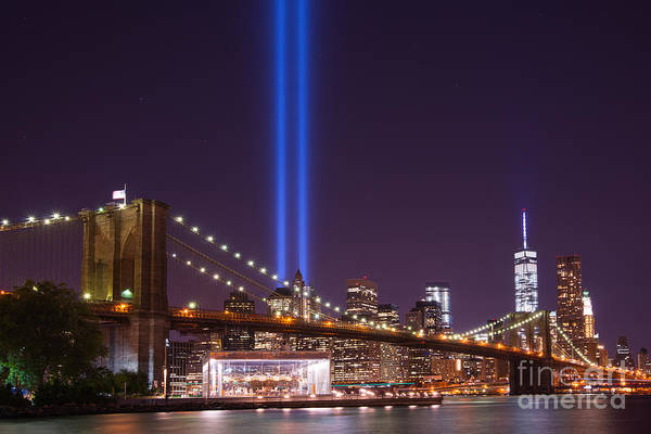 Nine Eleven Photograph - The Brooklyn Bridge  by Michael Ver Sprill