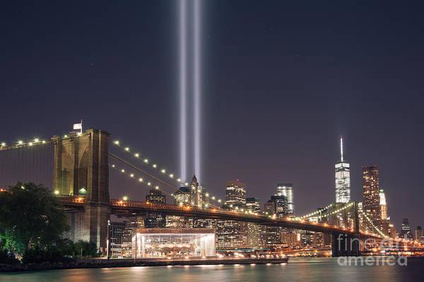 Nine Eleven Photograph - The Brooklyn Bridge Version 2 by Michael Ver Sprill