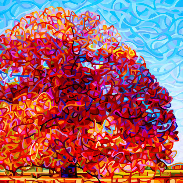 Wall Art - Painting - The Buddha Tree by Mandy Budan