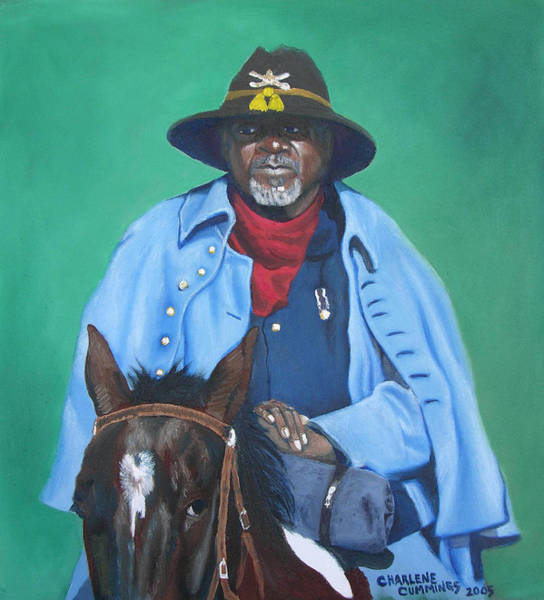 Aqha Painting - The Buffalo Soldier by Charlene Cummings