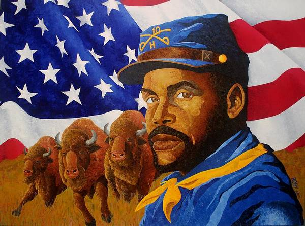 Painting - The Buffalo Soldier by William Roby