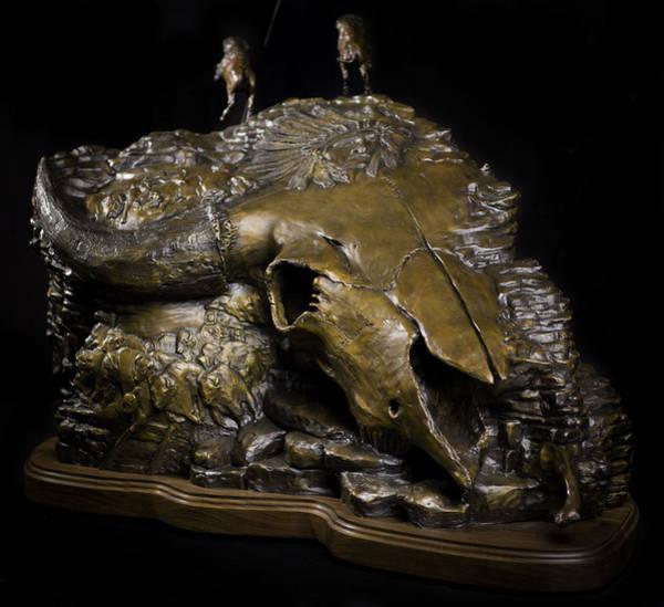 Painting - The Buffalo Story by Tim  Joyner