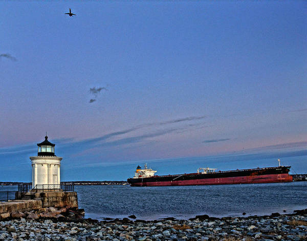 Foghorns Photograph - The Bug Light 01 Color by Jeff Stallard