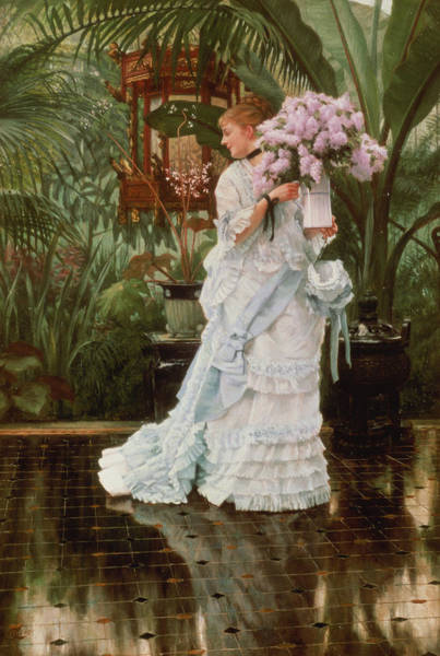 Painting - The Bunch Of Lilacs, 1875 by James Jacques Joseph Tissot