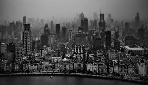 Chinese Photograph - The Bund by C.s. Tjandra