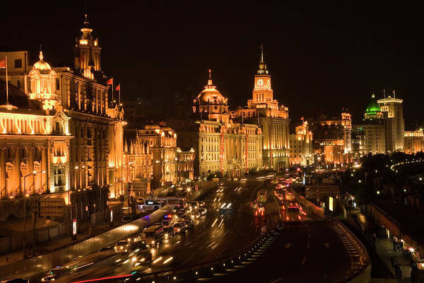 Wall Art - Photograph - The Bund, Old Part Of Shanghai by William Perry