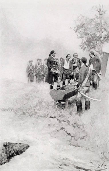 Brandywine Wall Art - Photograph - The Burial Of Braddock, Illustration From Colonel Washington By Woodrow Wilson, Pub. In Harpers by Howard Pyle