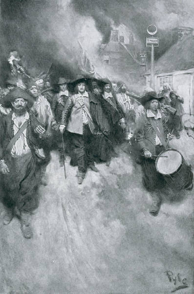 Brandywine Wall Art - Photograph - The Burning Of Jamestown, 1676, Illustration From Colonies And Nation By Woodrow Wilson, Pub by Howard Pyle