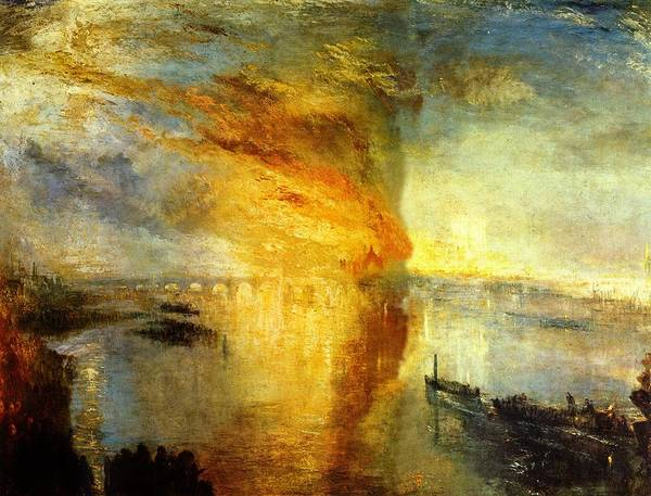 Wall Art - Painting - The Burning Of The Houses Of Lords And Commons by Celestial Images
