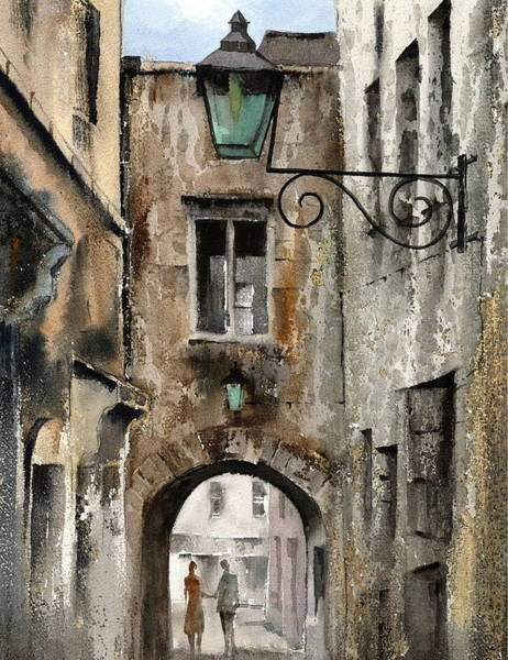 Painting - Kilkenny  The Butterslip   by Val Byrne
