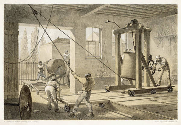 Atlantic Ocean Drawing - The Cable Is Brought To  Greenwich by Mary Evans Picture Library