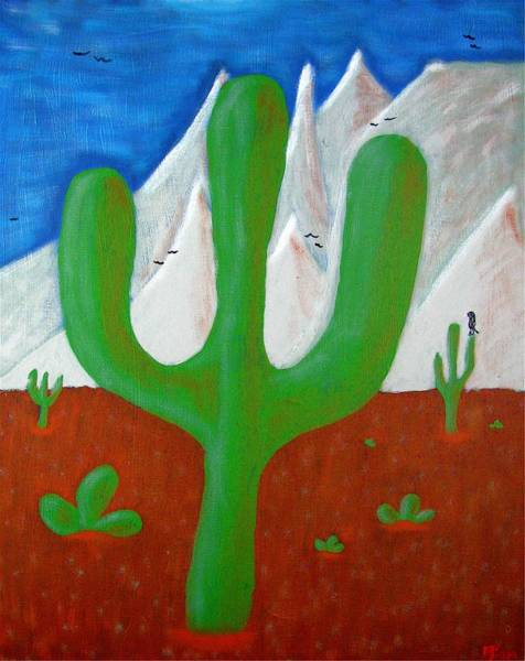 Painting - The Cactus by Mario MJ Perron