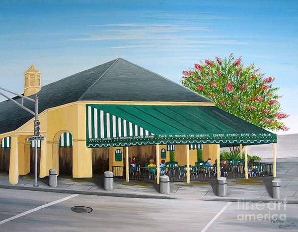 Doughnut Painting - The Cafe by Valerie Carpenter