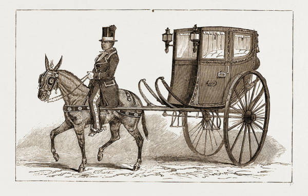 Old Style Drawing - The Caleza, Or Old-fashioned Carriage Of The Country by Litz Collection