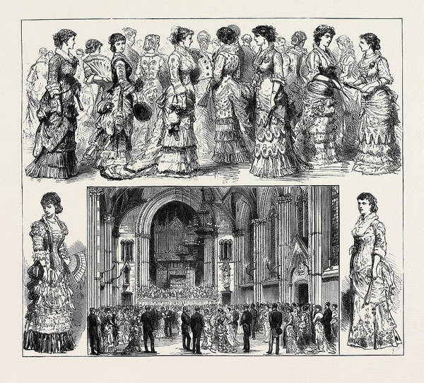 Manchester Drawing - The Calico Printers Ball At Manchester by English School