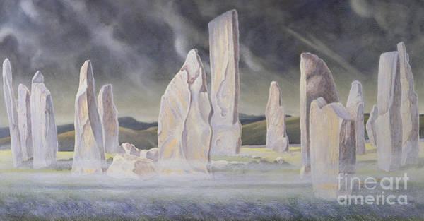 Moorland Wall Art - Painting - The Callanish Legend Isle Of Lewis by Evangeline Dickson