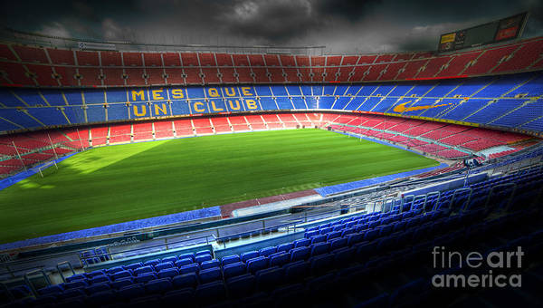 Camp Photograph - The Camp Nou Stadium In Barcelona by Michal Bednarek