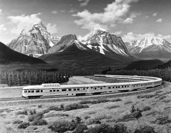 Canadian Pacific Railroad Photograph - the Canadian Train by Underwood Archives