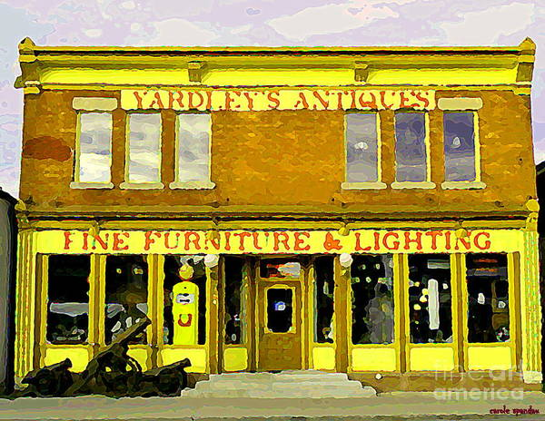 Painting - The Cannons Roar At Yardleys Antiques On Bank St Old Ottawa Streetscenes Glebe Paintings  by Carole Spandau