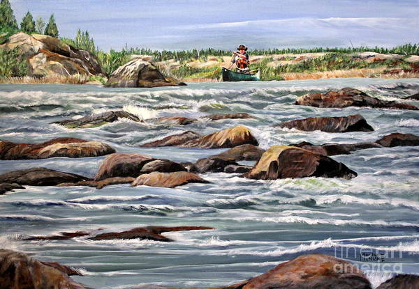 Painting - The Canoeist by Marilyn  McNish