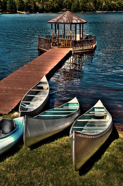 Photograph - The Canoes At Big Moose Inn by David Patterson