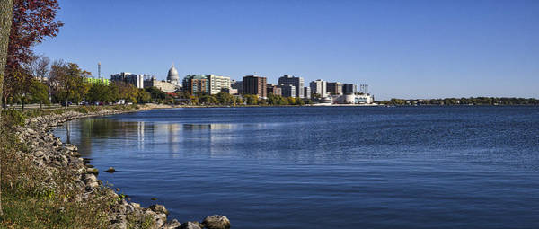 Photograph - The Capitol And Monona Terrrace - Madison - Wisconsin by Steven Ralser
