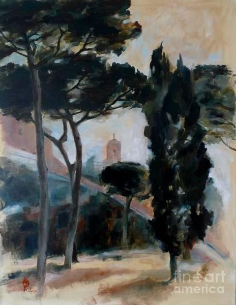 Painting - The Capitoline Hill / Rom / Italy by Karina Plachetka
