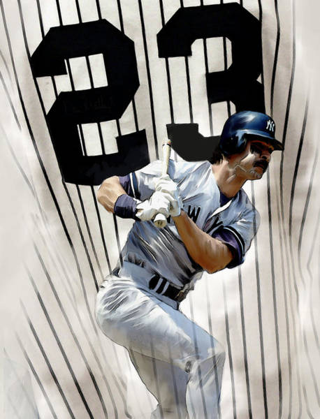 Wall Art - Painting - The Captain Donnie Baseball Don Mattingly by Iconic Images Art Gallery David Pucciarelli