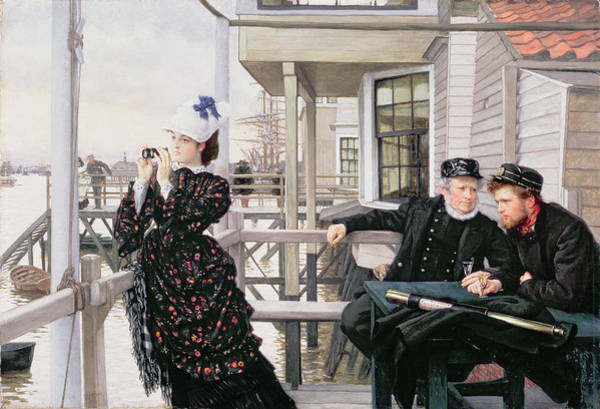 Painting - The Captains Daughter by James Jacques Joseph Tissot