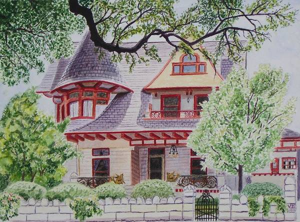 Painting - the Captain's House by Vera  Smith