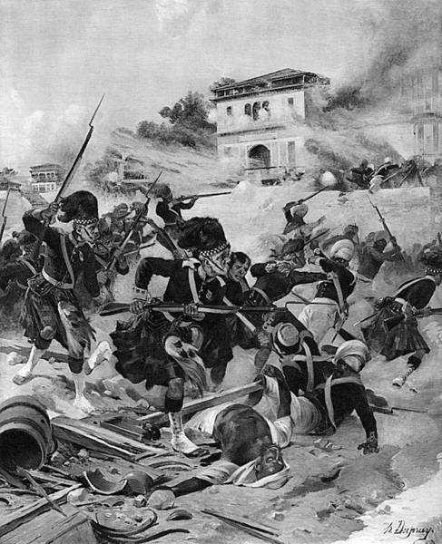 Wall Art - Drawing - The Capture Of Lucknow By  Havelock by Mary Evans Picture Library